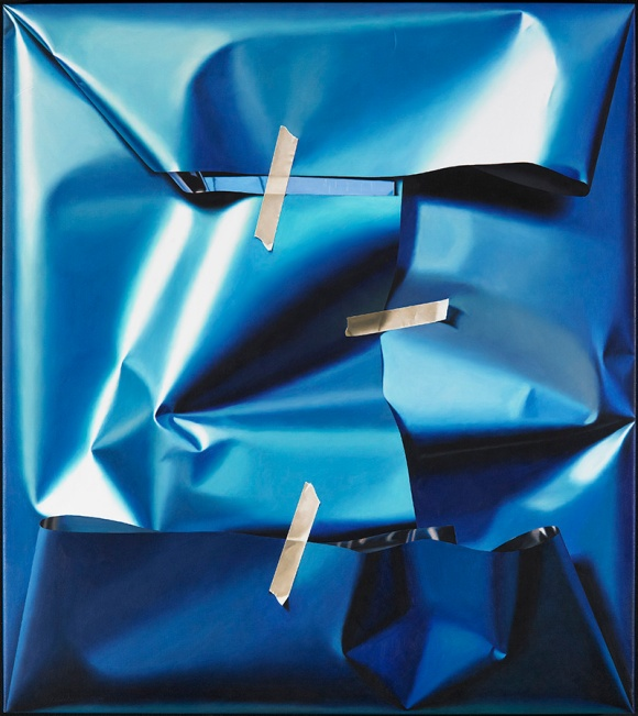 A packed_view _over_ harmonic_ blue _fields_2011_90x80cm_Front