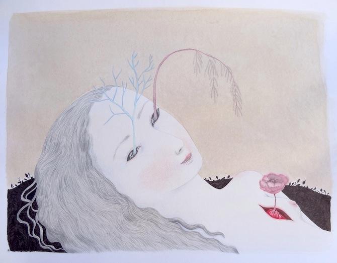Autoportrait morte Cendrine Rovini