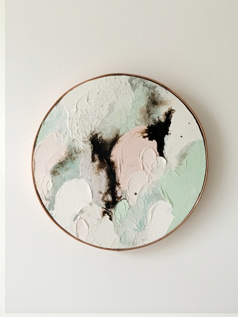 LISA_MADIGAN_PEACHES_and_GREEN_oil_on_wood_2014_M