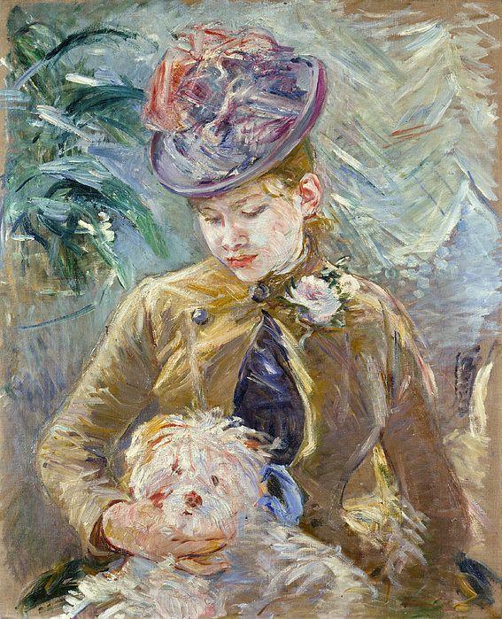 Morisot_jeunefilleauchien