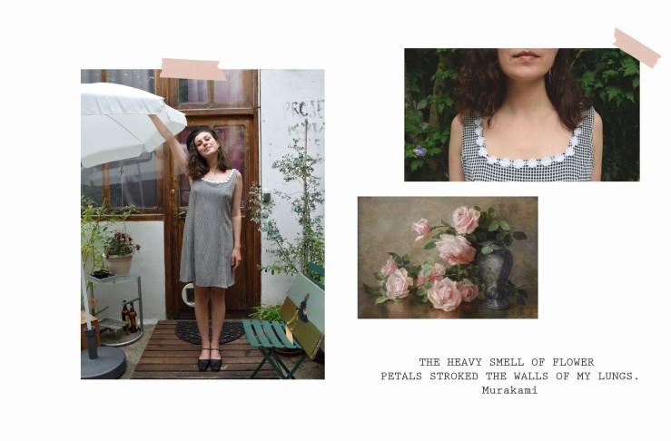 1.vintage gingham dress