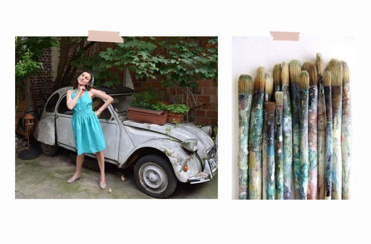 6.vintage green dress