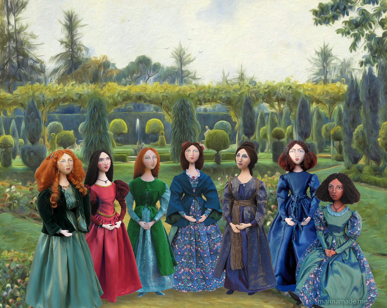 small-pre-raphaelite-muses-set-in-an-adapted-watercolour-by-ernest-arthur-rowe-1863-1922-e28098grey-day-brockenhurst-1